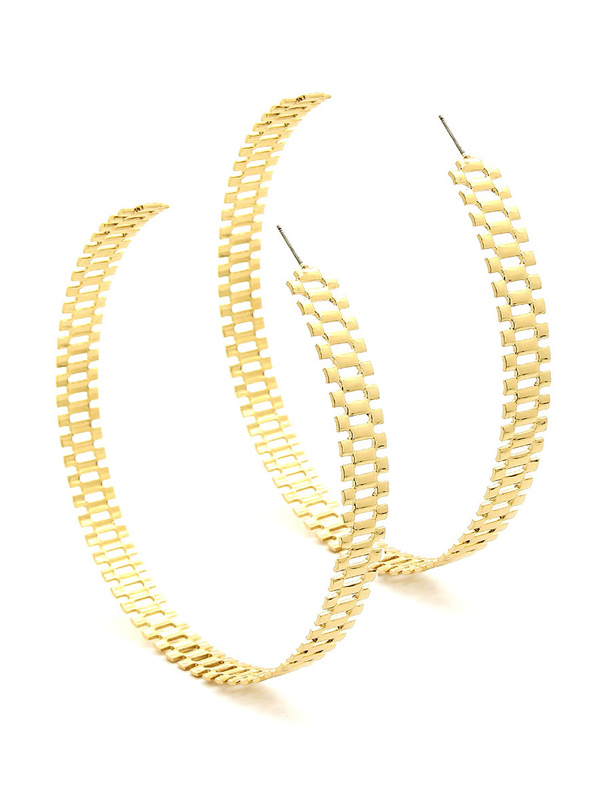 블랙피치Rollie Chain Hoop Earring(재입고)