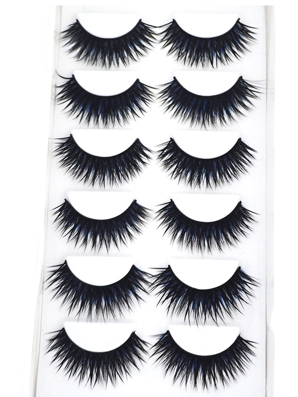 블랙피치Blue Black Eyelash 6 Pair