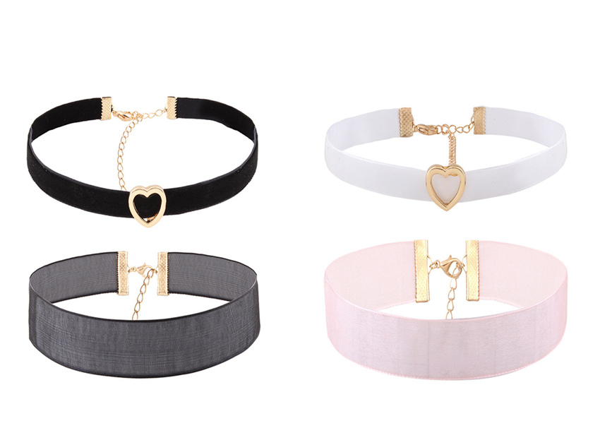 블랙피치Heart Choker Set