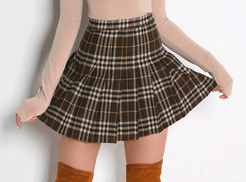 블랙피치London Check Mini Skirt