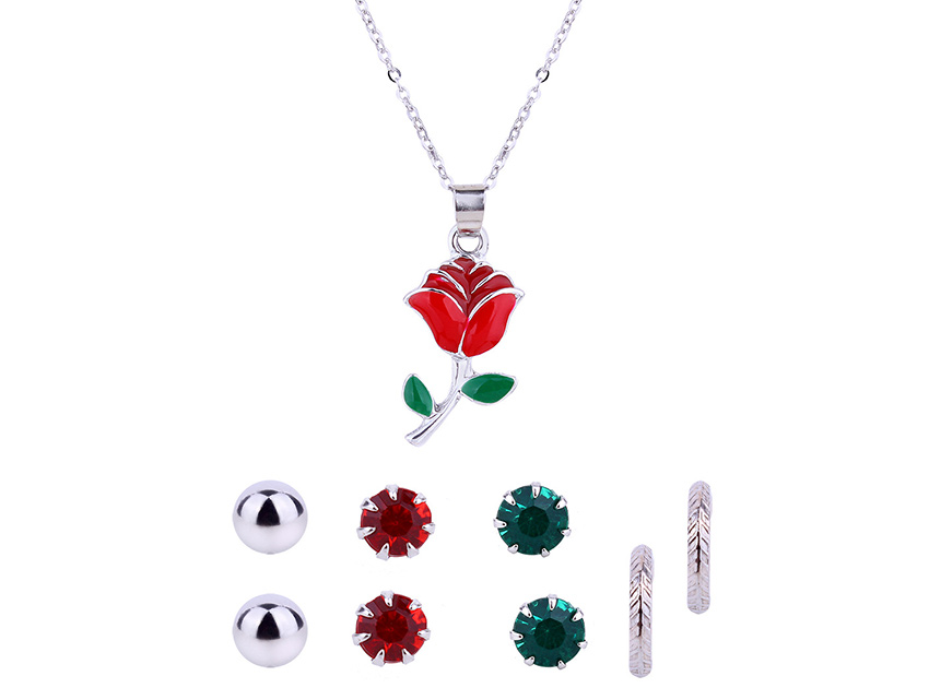 블랙피치Rose Jewelry Set