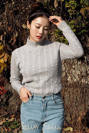 블랙피치(sale) Cable Knit