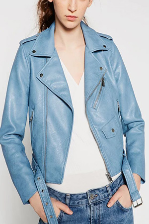 블랙피치(sale) Faux Leather Bike Jacket