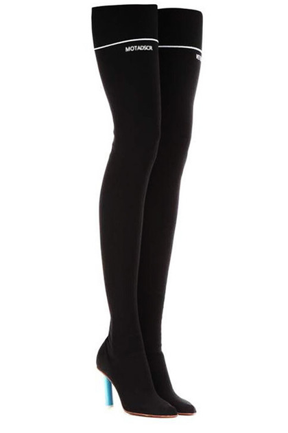 블랙피치Over Knee Sock Long Boots