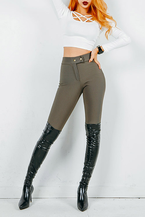블랙피치Basic High - Waist Jeggings
