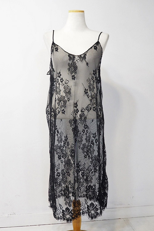 블랙피치(sale) lace slip Dress