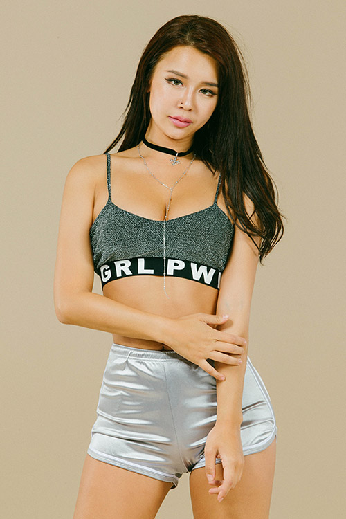 블랙피치GIRL POWER Bra Top