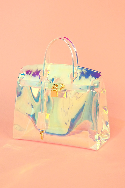 블랙피치Space Metalic PVC Clear Bag