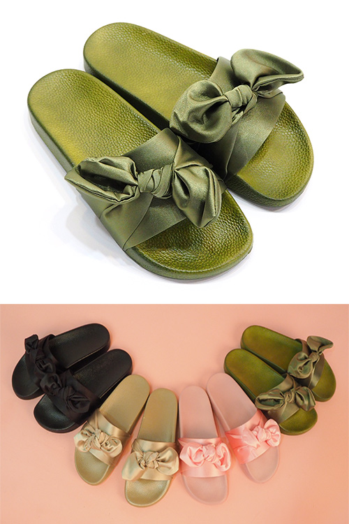 블랙피치Ribbon Slipper