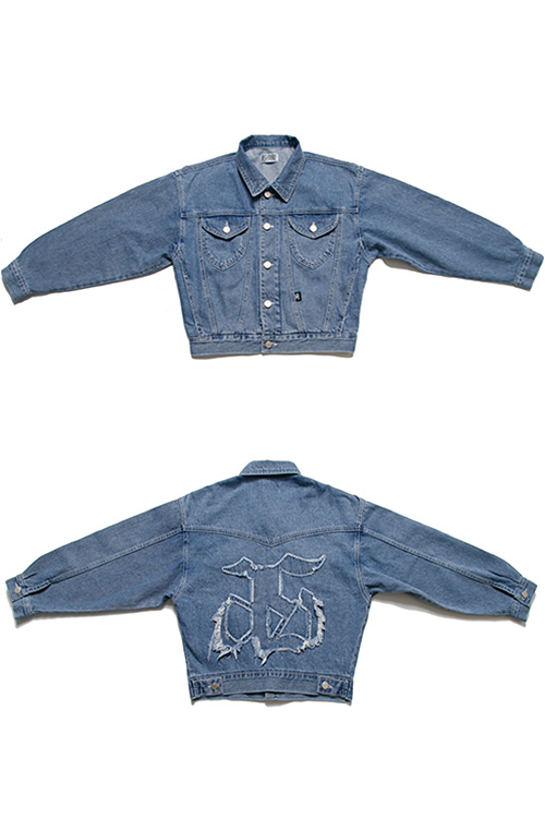 블랙피치[ASHANIE] AS Symbol Denim Jacket
