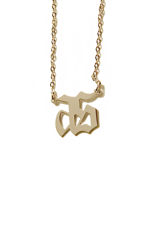 블랙피치[ASHANIE] Chicano Logo Necklace
