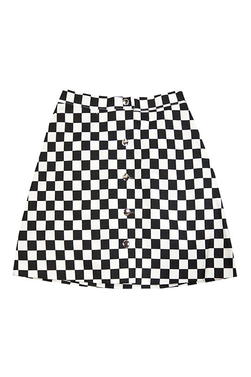 블랙피치Checker Board Mini Skirt