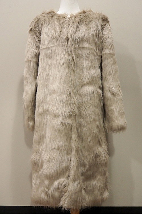 블랙피치(SAMPLE SALE) Faux Fur Long Coat