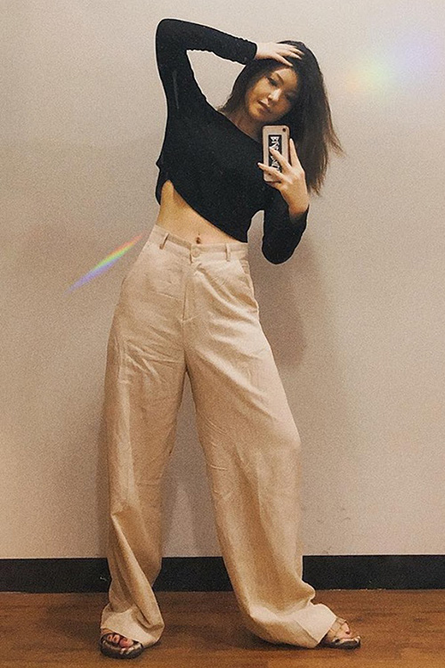 블랙피치(SAMPLE SALE) Wide Leg Cool Pants