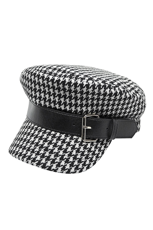 블랙피치,Hound Tooth Check Sailor Cap