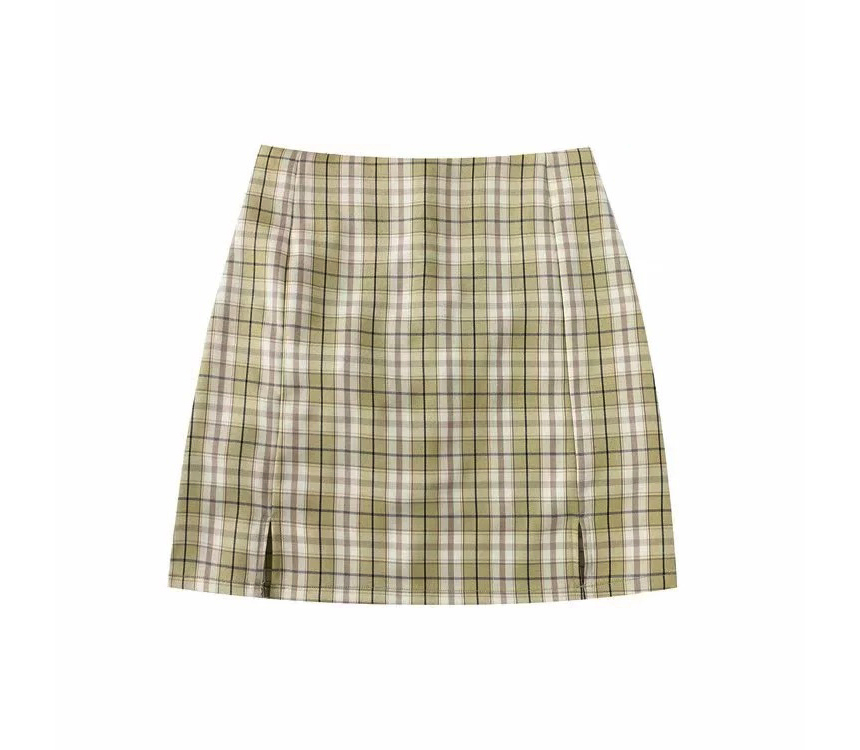 mini skirt color image-S1L100