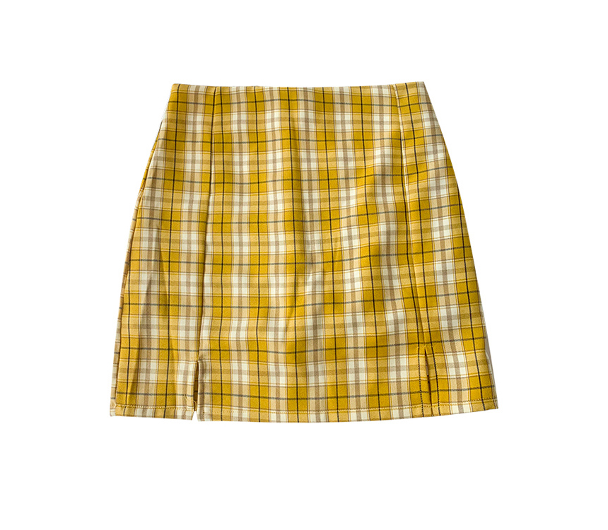 mini skirt color image-S1L102