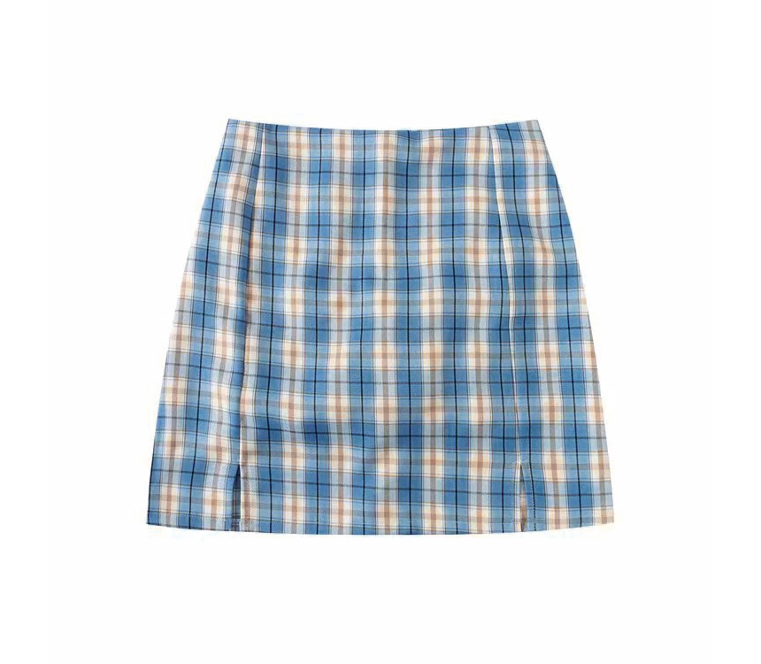 mini skirt color image-S1L105