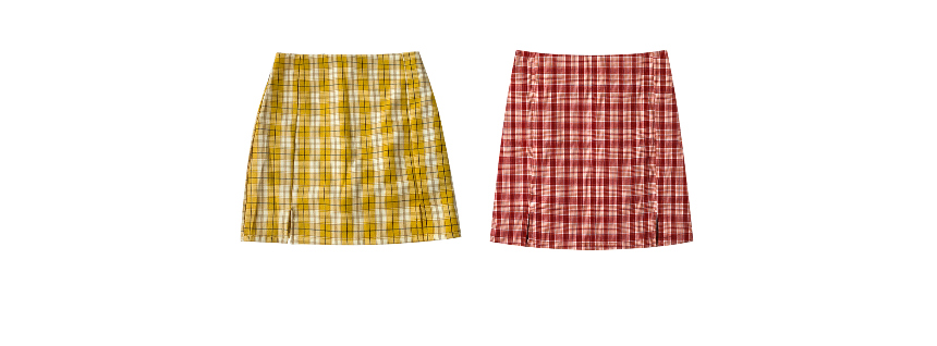 mini skirt color image-S4L12