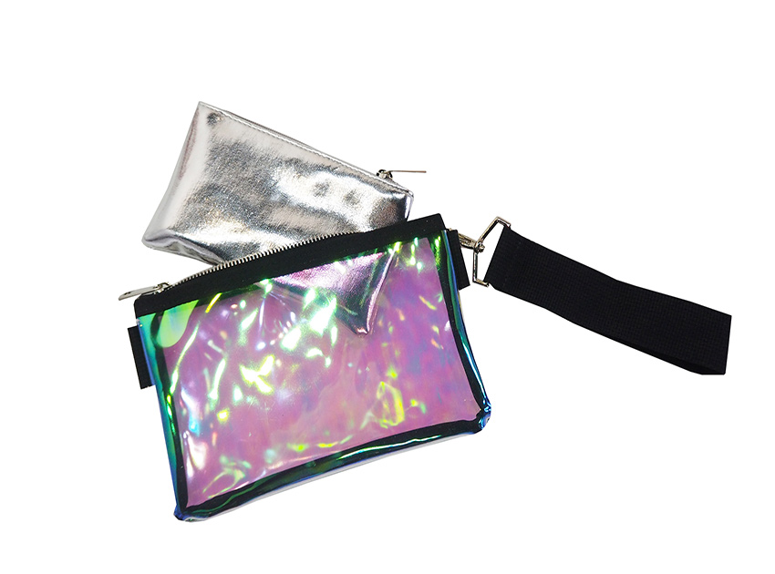 블랙피치Space Metalic PVC Clutch Bag