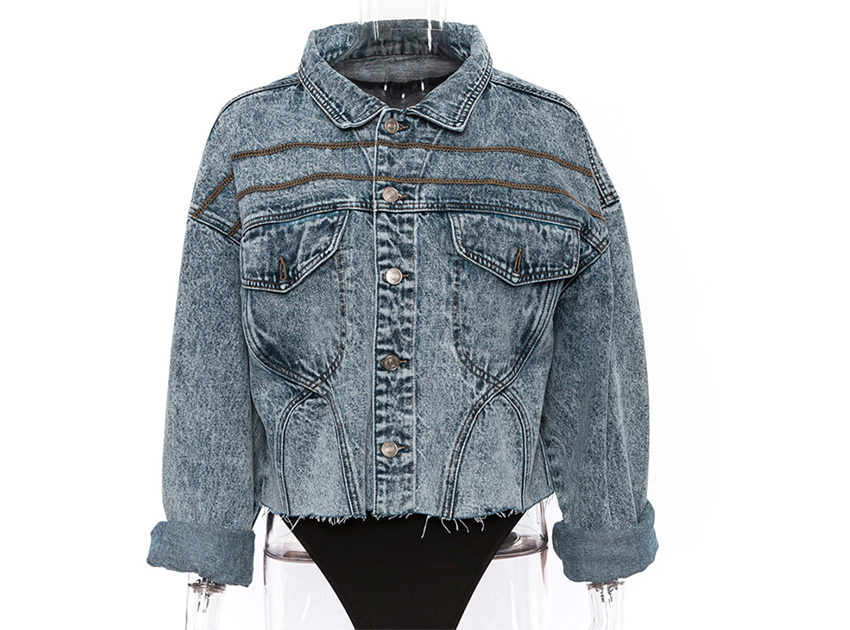 블랙피치(SALE) Stone Washed Denim Jacket (S/M 당일발송가능)