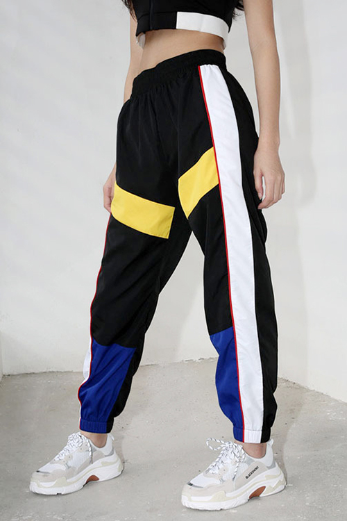 블랙피치(SALE) Color Block Windbreak Jogger Pants (당일발송가능)